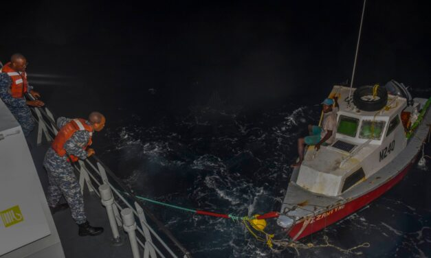 Man rescued after adrift at sea for two days