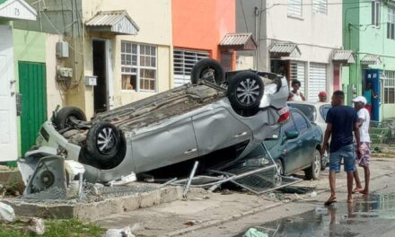 CAR HITS AND FLIPS IN GALL HILL