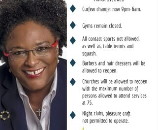 Prime Minister, The Hon. Mia Amor Mottley, has announced significant easing of the covid-19 restrictions.