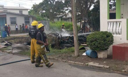 Fire destroys house at Bush Hall