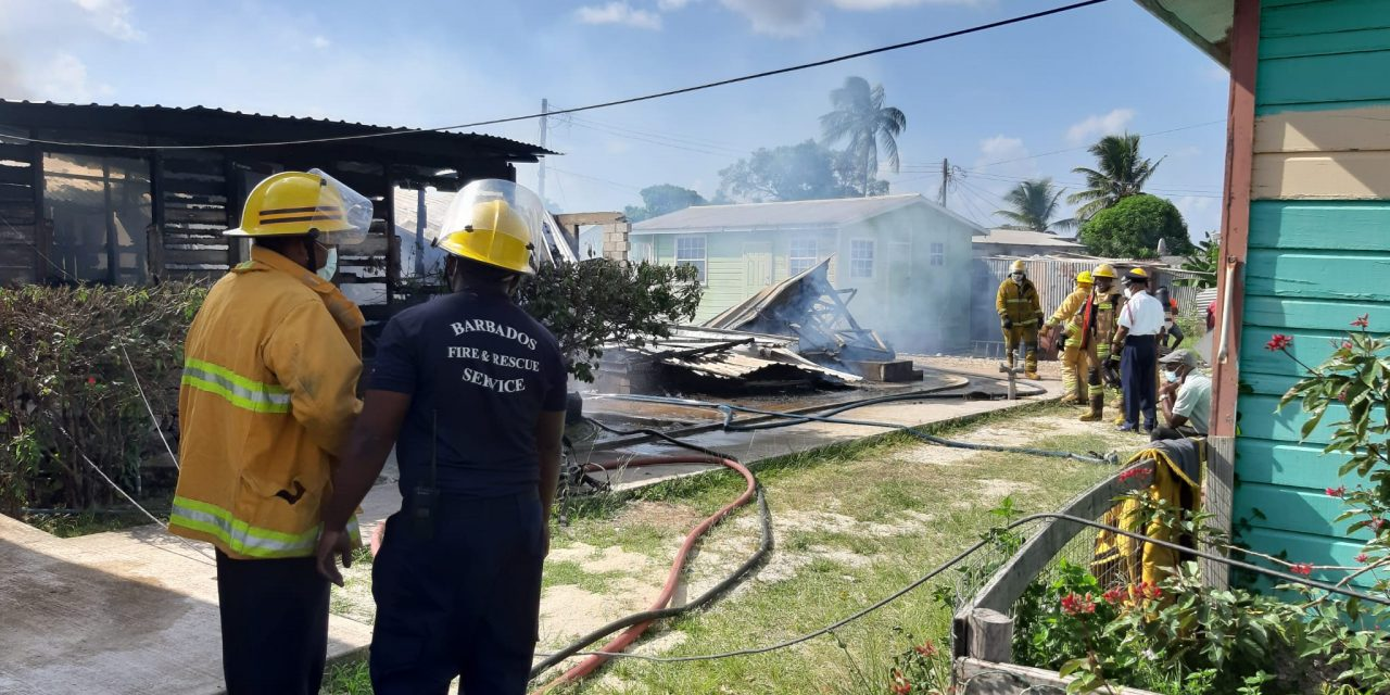 Two houses destroyed by fire at Brittons Hill